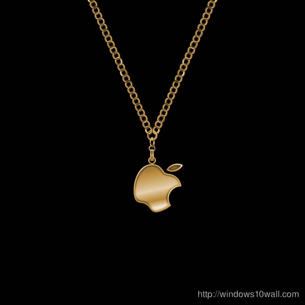 Golden necklace iPad Background Wallpaper