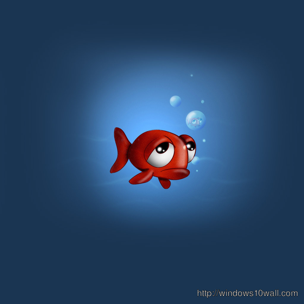 sad fish iPad Background Wallpaper