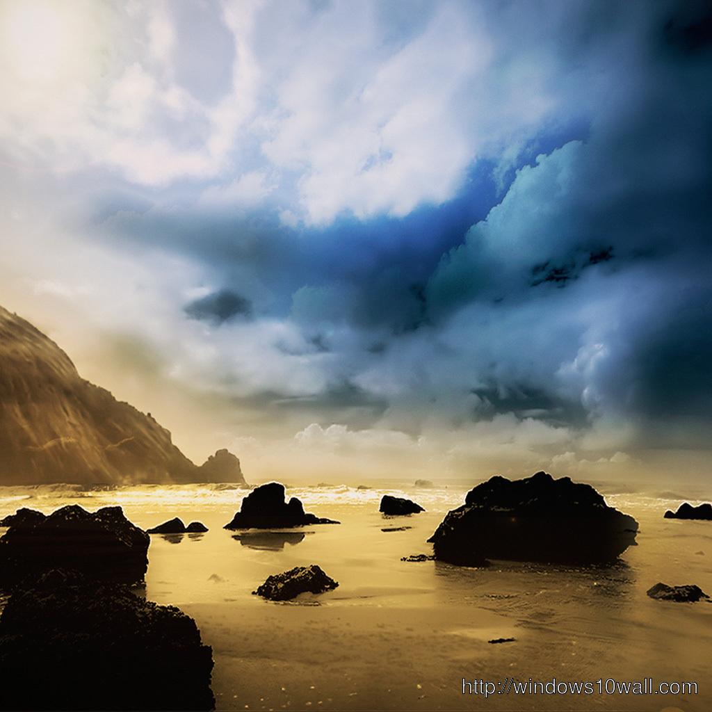 sea coast iPad Background Wallpaper