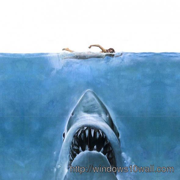 shark jaws iPad Background Wallpaper