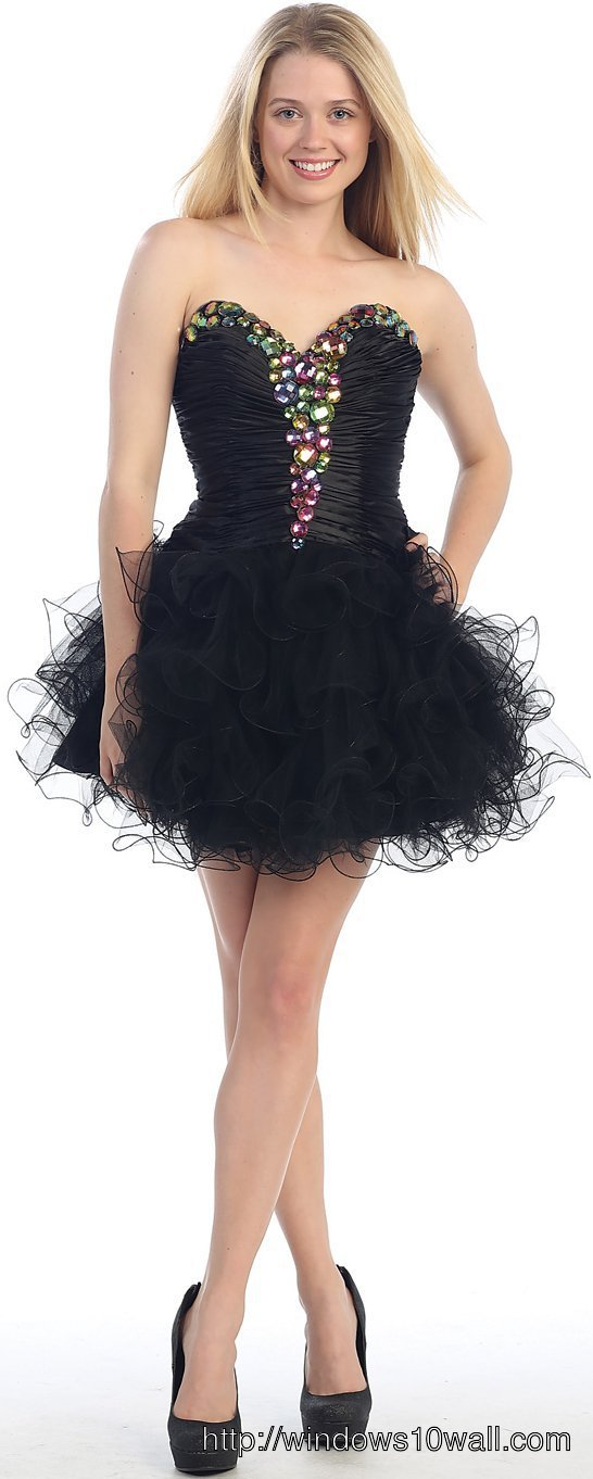 black-short-prom-dresses-with-elegant-corset-background-wallpaper