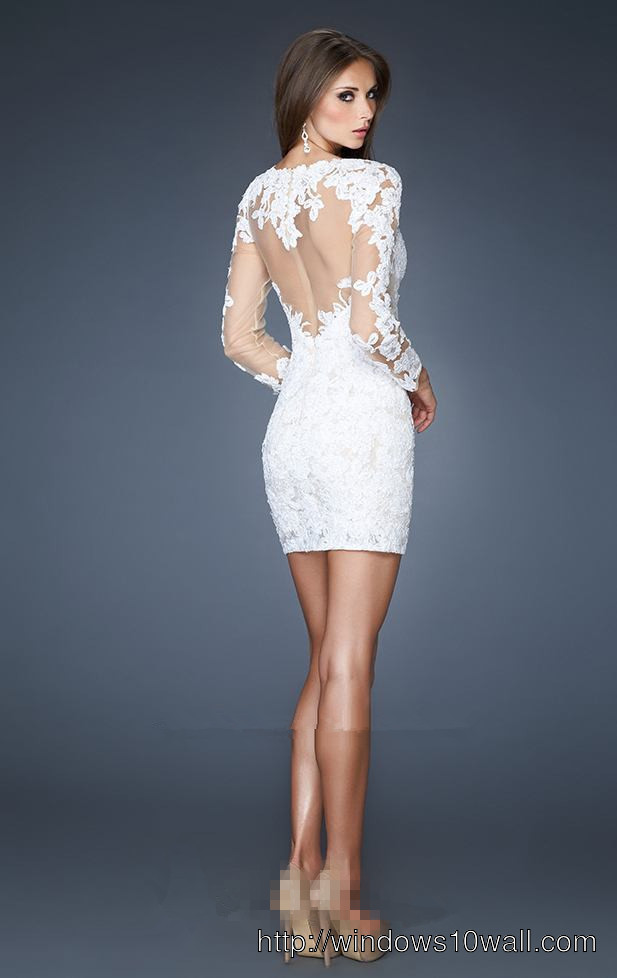 short-white-dresses-with-lace-long-sleeves-background-wallpaper