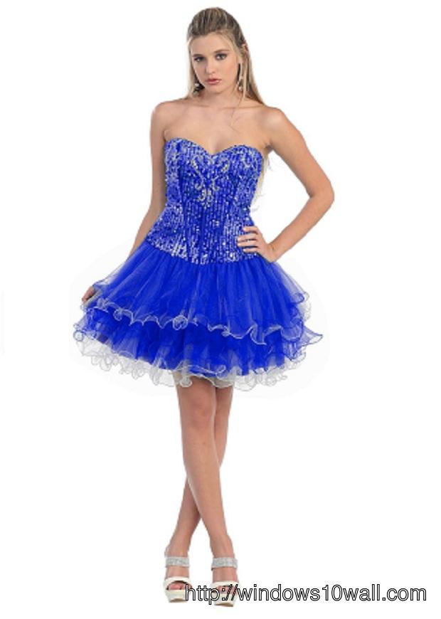 stylish-royal-blue-short-prom-dress-background-wallpaper
