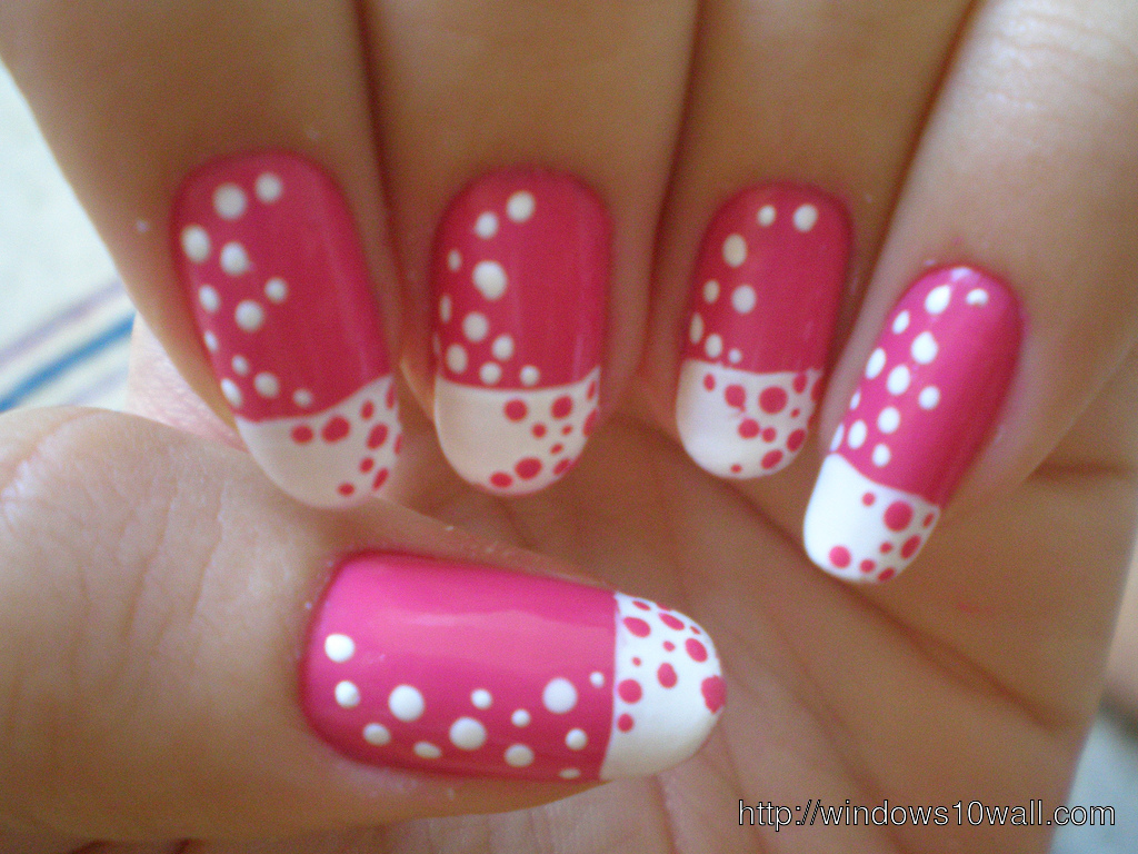 Cute Pink Nail Art Designs For Girls Background Wallpaper