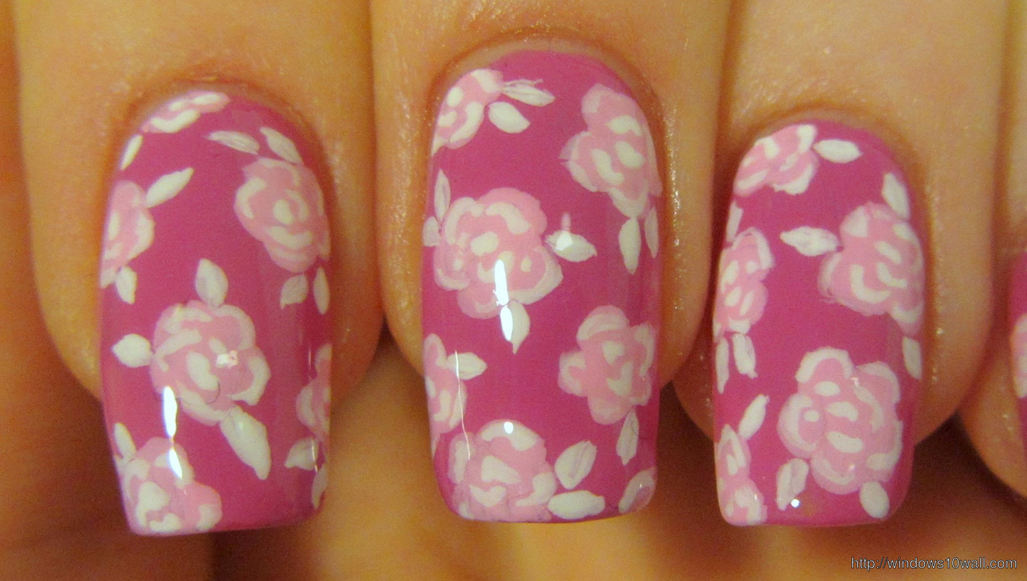 pink-nail-art-designs-with-flowers-background-wallpaper