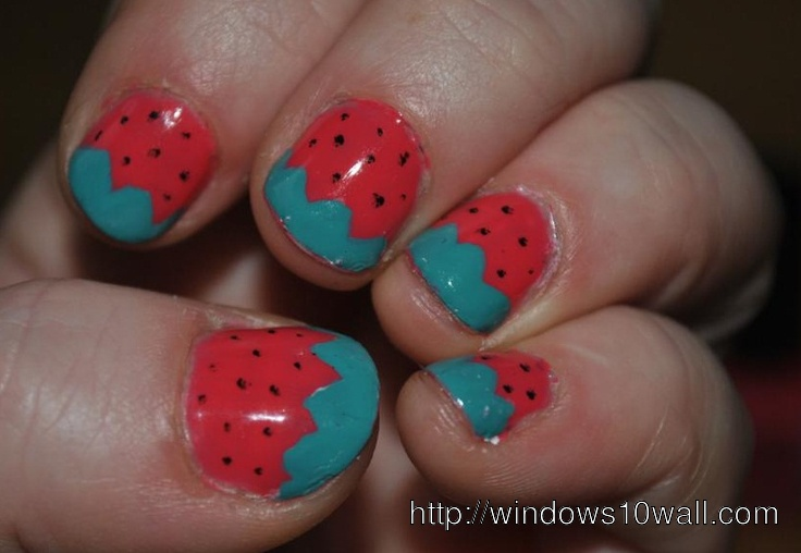 simple-strawberry-nail-art-designs-background-wallpaper