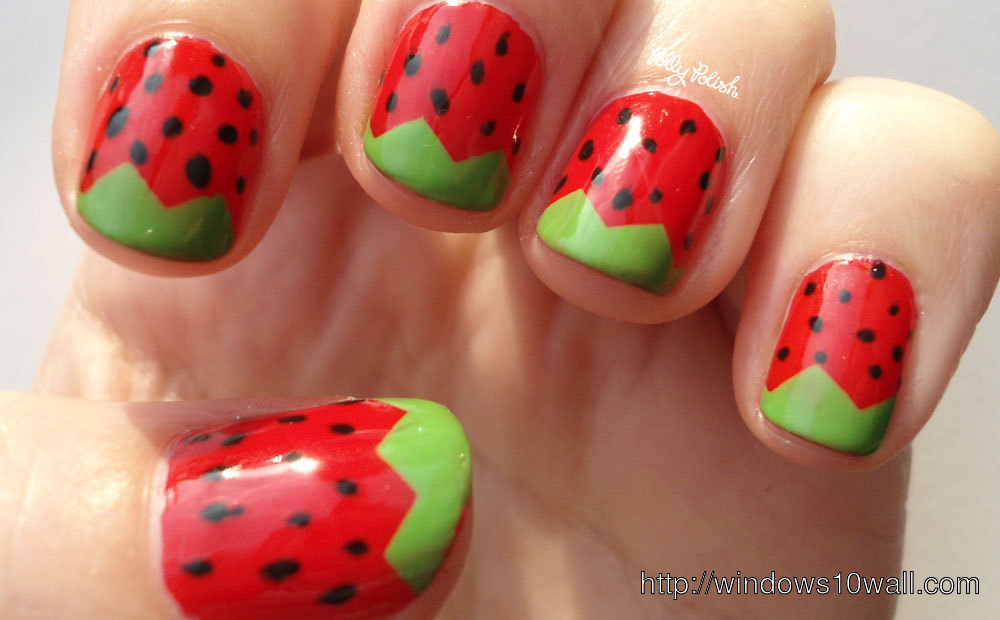 strawberry-nail-art-ideas-background-wallpaper