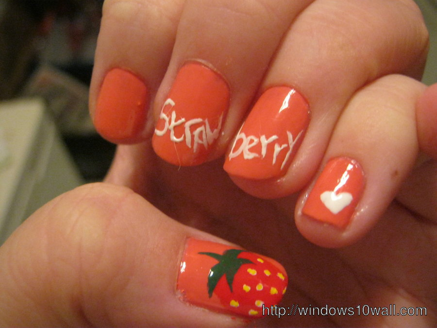 strawberry-nails-background-wallpaper