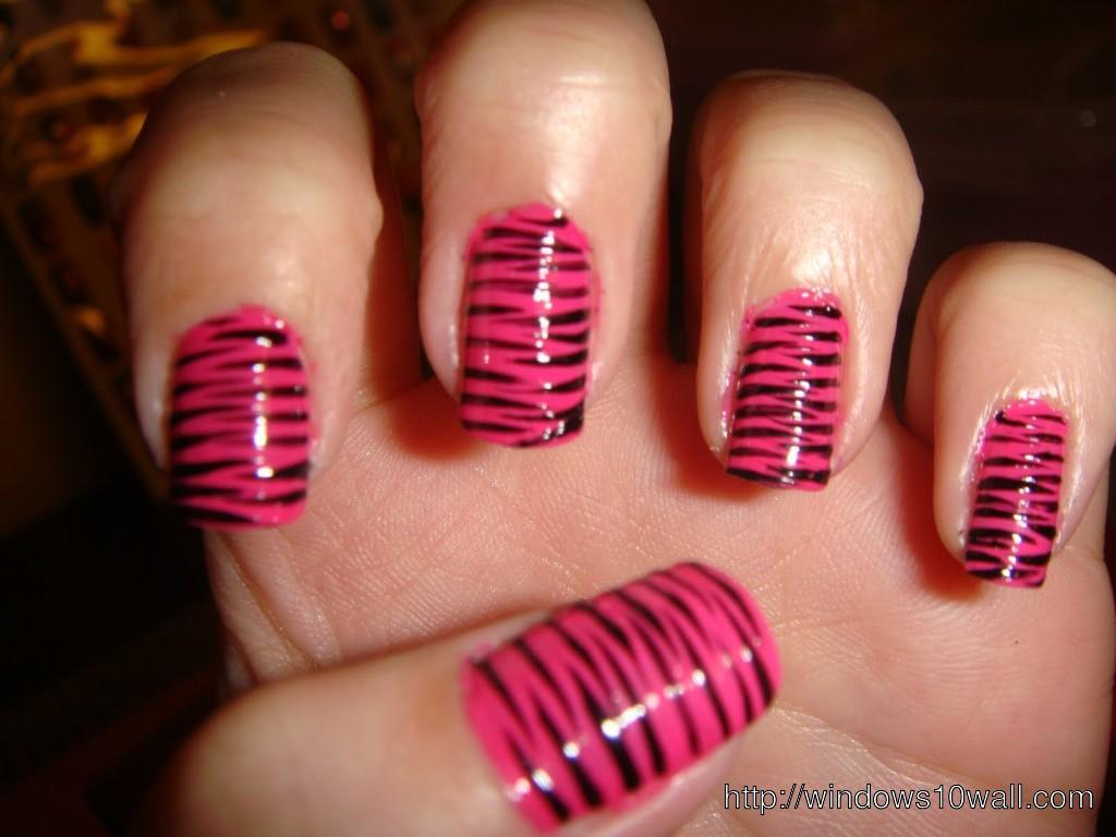 zebra-pink-nail-art-background-wallpaper
